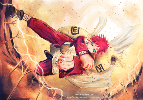 Gaara of Suna wallpaper possibly containing a sun tea titled Gaara