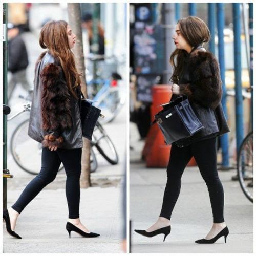 Gaga in New York, walking again!
