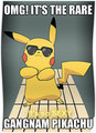 Gangnam Pikachu - pokemon fan art