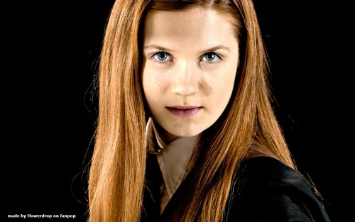 Harry Potter achtergrond containing a portrait called Ginny Weasley achtergrond