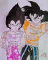 Goku N' Vegeta - dragon-ball-z fan art