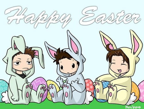 Happy Easter! From Sam, Dean and Cas