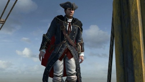 Assassin's Creed wallpaper containing a surcoat, a green beret, and battle dress called Haytham Kenway