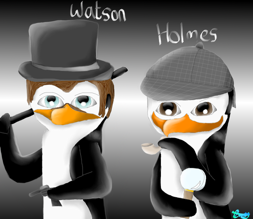 Holmes and Watson penguinized. :P