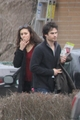 Ian and Nina in Toronto HQ - ian-somerhalder-and-nina-dobrev photo