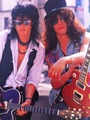 Izzy and Slash - guns-n-roses photo