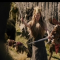 Jadis walks towards Peter sword and wand at the ready.