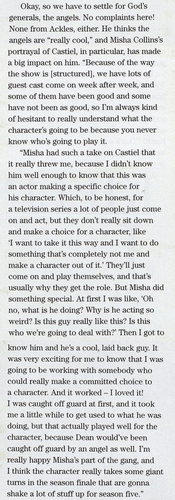 Jensen's Interview about Misha