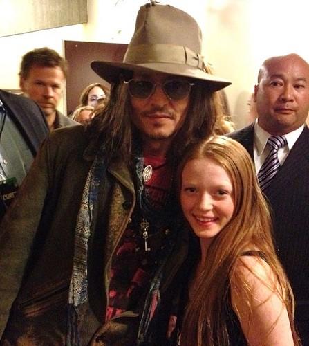 জনি ডিপ দেওয়ালপত্র with a fedora and a boater titled Johnny Depp