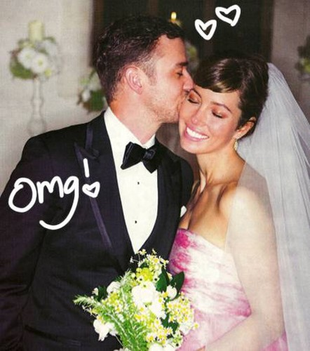 Justin Timberlake wallpaper titled Justin & Jessica Wedding