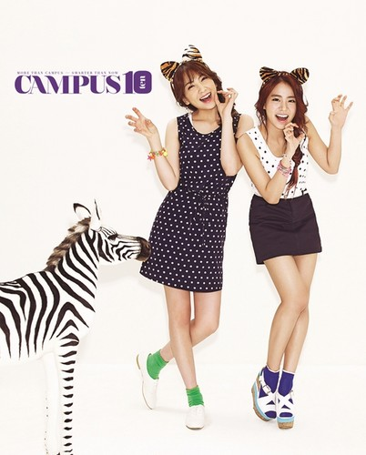 KARA's Jiyoung & Seungyeon for Campus 10
