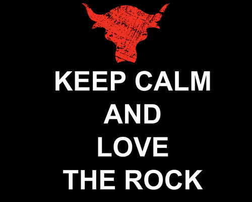KEEP CALM AND amor THE ROCK