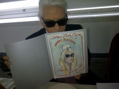 Karl Lagerfeld's birthday wish for Gaga