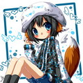 Kawaii fox, mbweha Girl