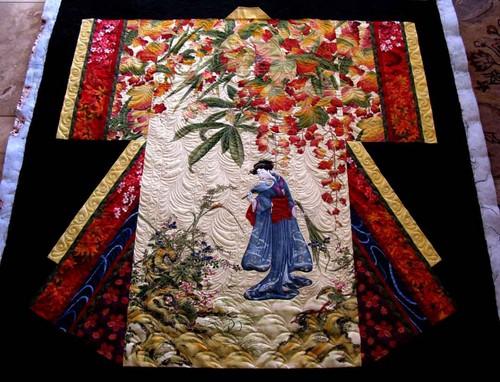 Japan karatasi la kupamba ukuta called kimono