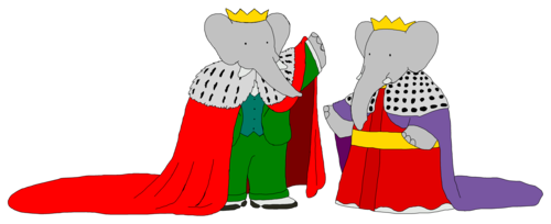 King Babar and queen Celeste - Grandparents - Mantles