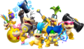 Koopalings in New Super Mario Bros U