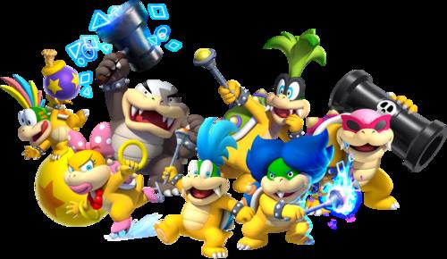 Koopalings in New Super Mario Bros U