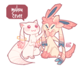 Kyubey and Mahou Eevee
