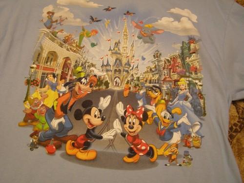 Magic Kingdom overhemd, shirt 2010- Design Close Up
