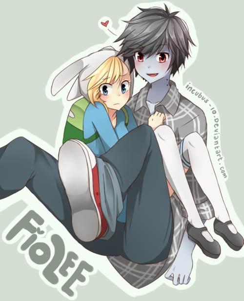 Anime Adventure Time Fionna And Marshal Lee