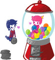 Marshall lee and gumball - marshall-lee fan art