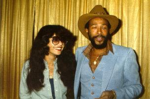 Marvin Gaye And saat Wife, Janice Hunter