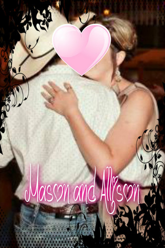 Celebrity Couples wallpaper probably with a bouquet and a portrait entitled Mason and Allison