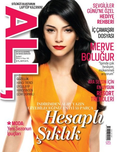 Merve Bolugur on the cover of All Magazine