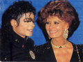 Michael And Actress, Sophia Loren - michael-jackson photo