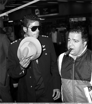 Michael and manager frank dileo michael jackson photo