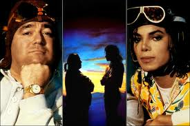 Michael Jackson wallpaper probably containing anime and a portrait titled Michael And Manager, Frank DiLeo
