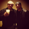 Michael Trevino and Jack Nicholson at a Lakers game - michael-trevino photo