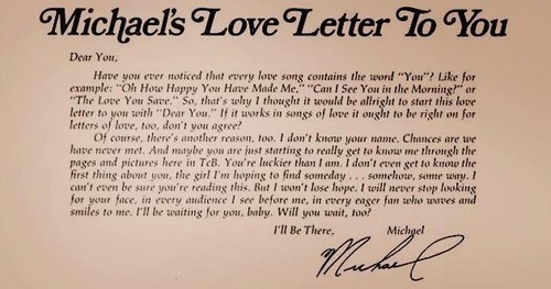 Michael 's letter to you