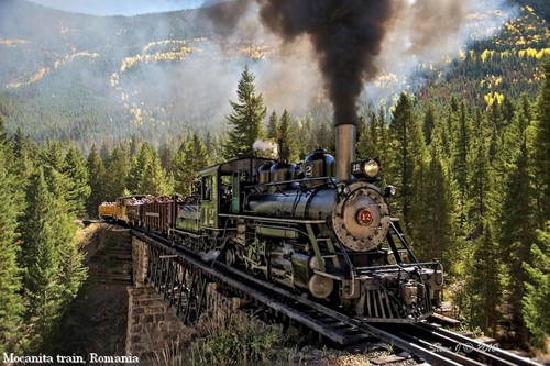 Mocanita train, Romania Carpathian mountains