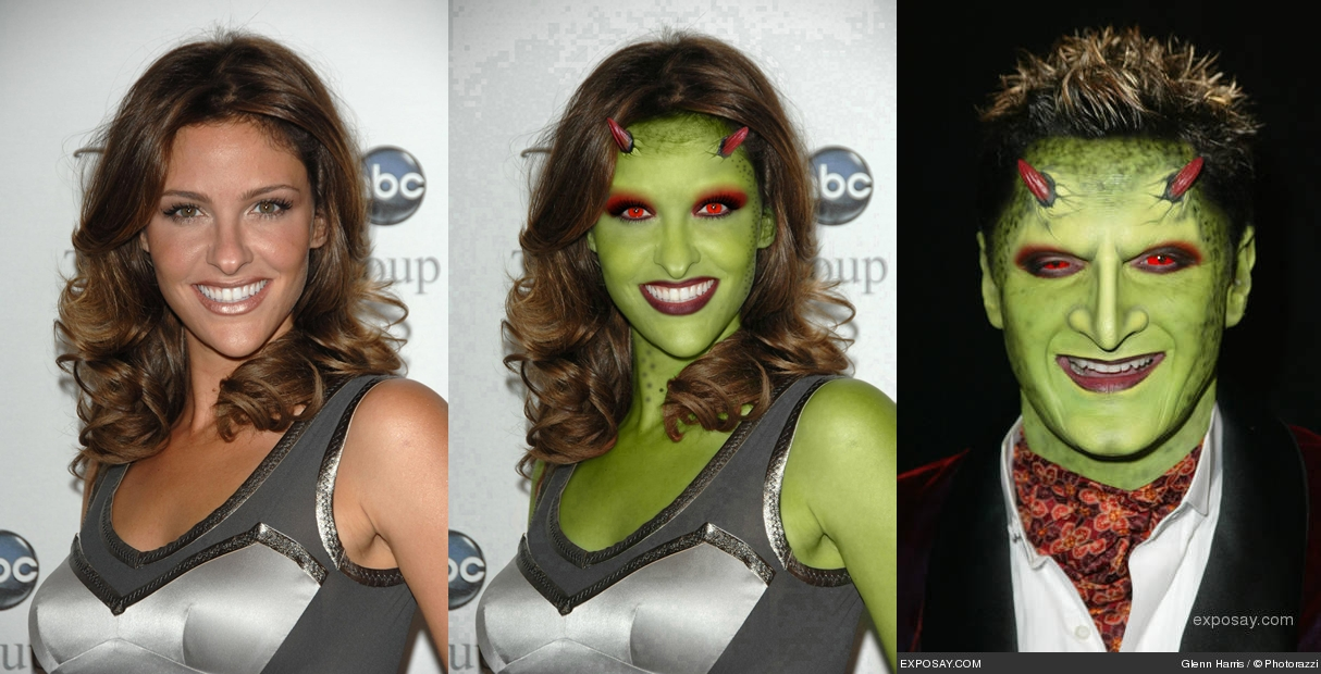 My new Photomanipulation with Jill Wagner as Pylean woman (mask make-up of the series Angel)..