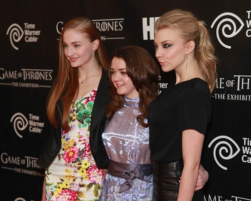 NYC Exhibition - Sophie Turner, Maisie Williams, Natalie Dormer