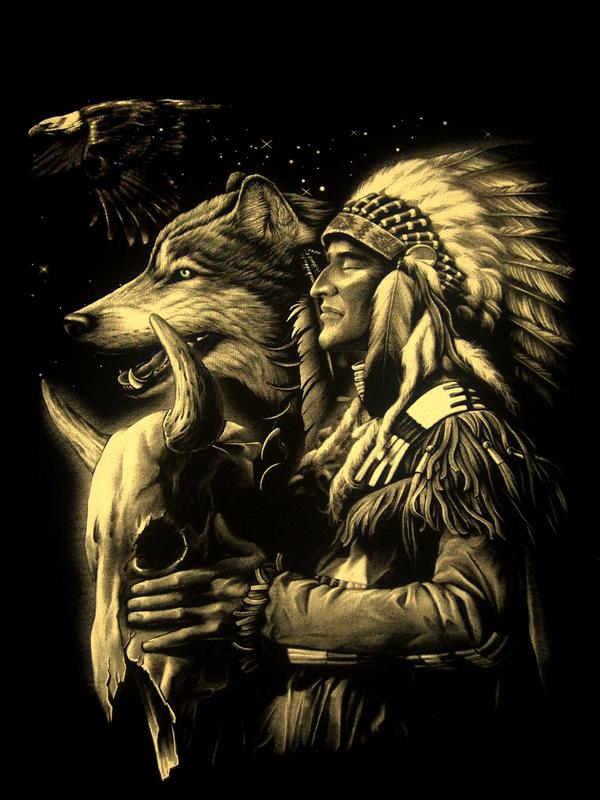 Native American Wolf Art