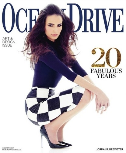 Jordana Brewster wallpaper possibly with bare legs, hosiery, and tights called Ocean Drive Magazine