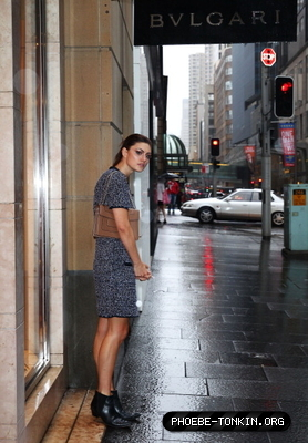 Outside the Bvlgari store in Sydney, Australia