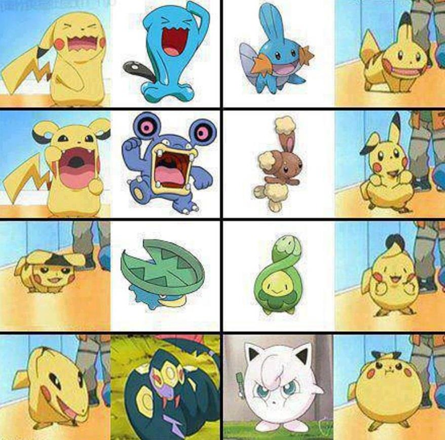 pikachu imitates other Pokemons