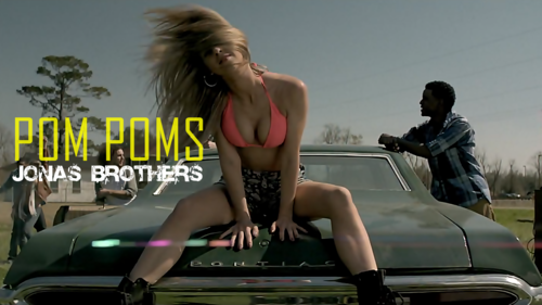 The Jonas Brothers wallpaper with a leotard, tights, and a swimsuit entitled Pom Poms Sexy Wallpaper