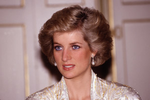 The 80s wallpaper with a portrait called Princess Diana