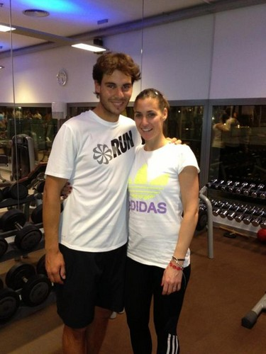 Rafa Nadal together with Flavia Pennetta 2013