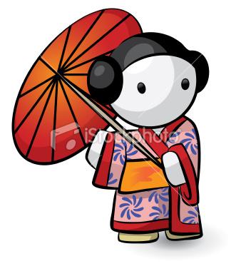 Japan karatasi la kupamba ukuta titled bila mpangilio Japanese Stuff