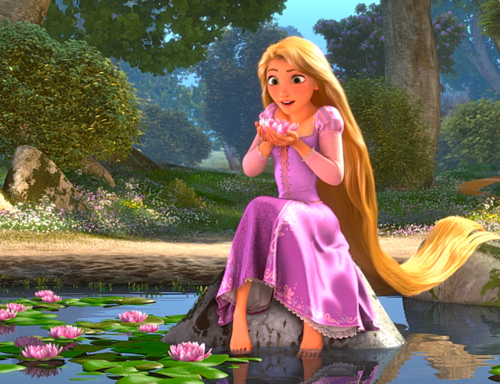 Rapunzel at Lake