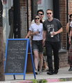 Rob and Kristen out in LA (4th April 2013) with friends and holding hands. - robert-pattinson-and-kristen-stewart photo