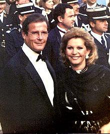 Roger Moor and Third Wife, Luisa Mattiolli