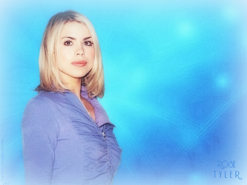 Doctor Who karatasi la kupamba ukuta possibly containing a portrait titled Rose Tyler