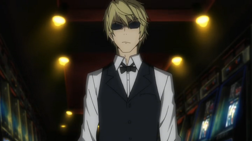 Heiwajima Shizuo wallpaper containing a business suit, a suit, and a dress suit entitled Shizuo